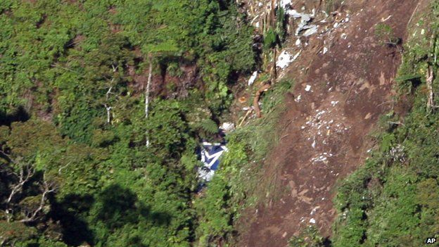 Site of Sukhoi Superjet 100 crash o Indonesian mountain in 2012