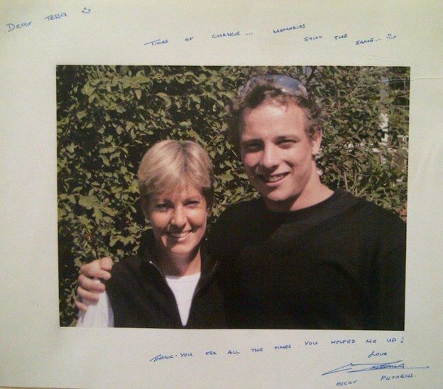 Tessa Shellard and Oscar Pistorius