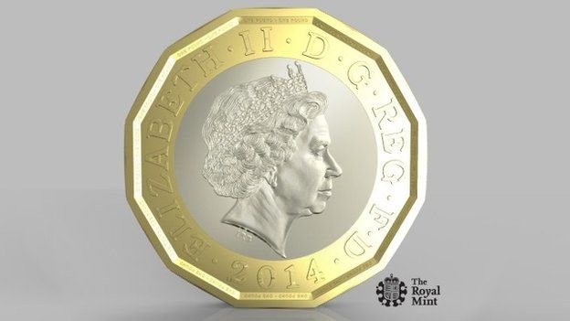 The new one pound coin