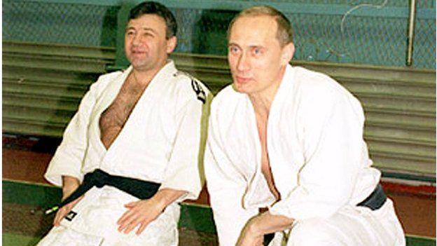 Arkady Rotenberg with Vladimir Putin practising judo