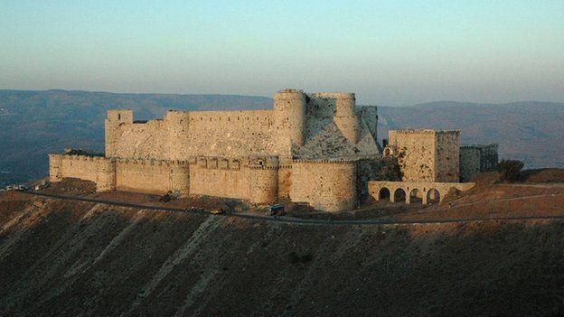 The Krak des Chevaliers castle in 2006