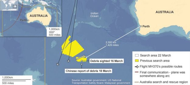 Malaysia flight MH370: China planes boost Indian Ocean hunt - BBC News