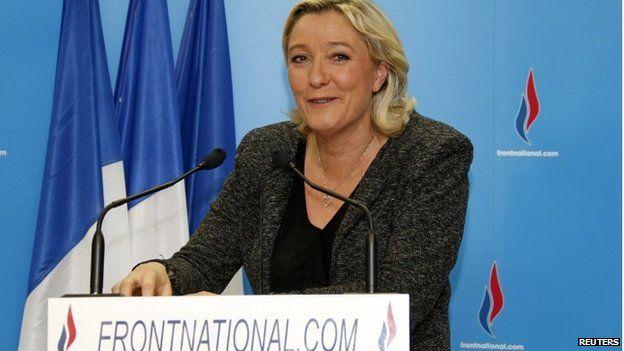 Marine Le Pen speaking in Nanterre 23/03/2014