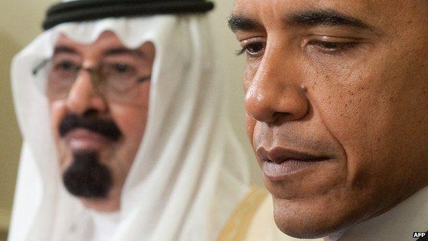 King Abdullah meets Barack Obama at the White House in Washington (29 June 2010)