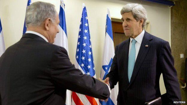 Benjamin Netanyahu welcomes John Kerry in Jerusalem (31 March 2014)