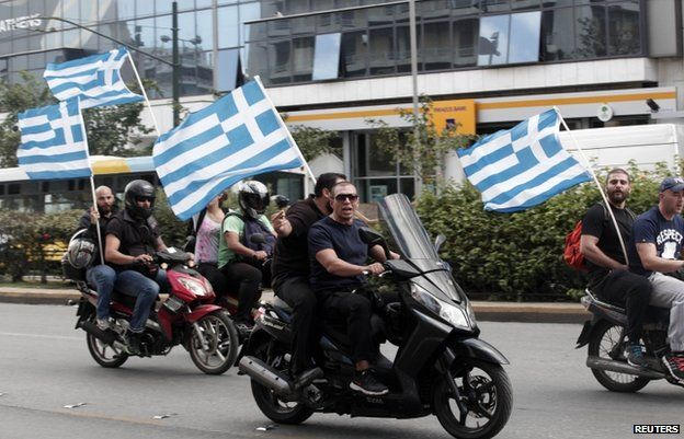 Golden Dawn supporters in Athens, October 2013