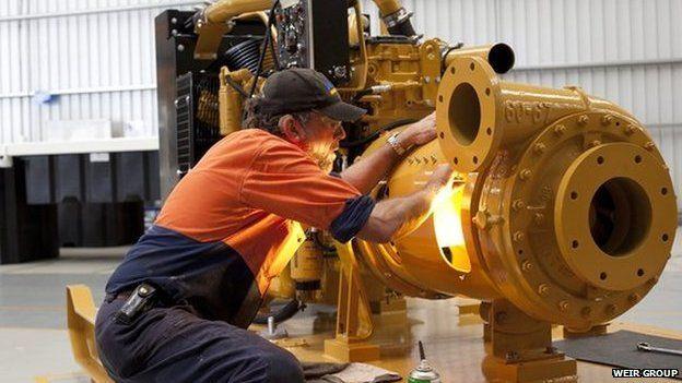 Weir worker