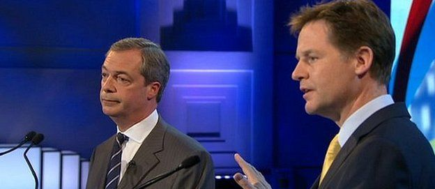 Nick Clegg and Nigel Farage