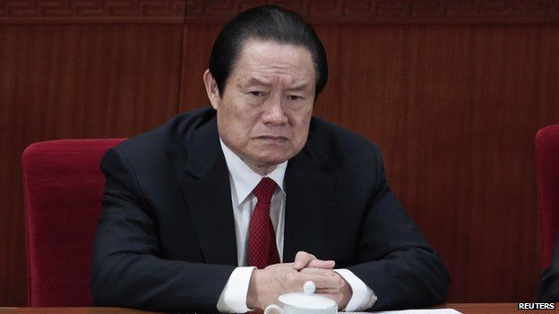 Former Politburo Standing Committee Member Zhou Yongkang in Beijing on 14 March 2012.