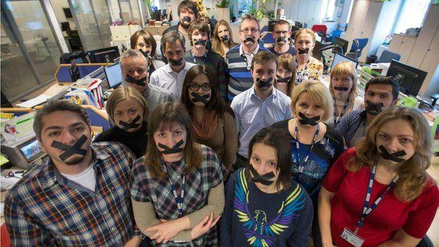 BBC's Newsgathering and Russian Service staff
