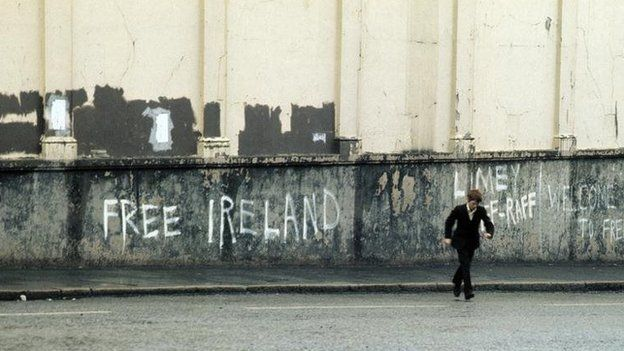 Political graffiti in Belfast in 1971
