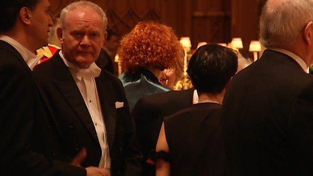 Martin McGuinness at banquet