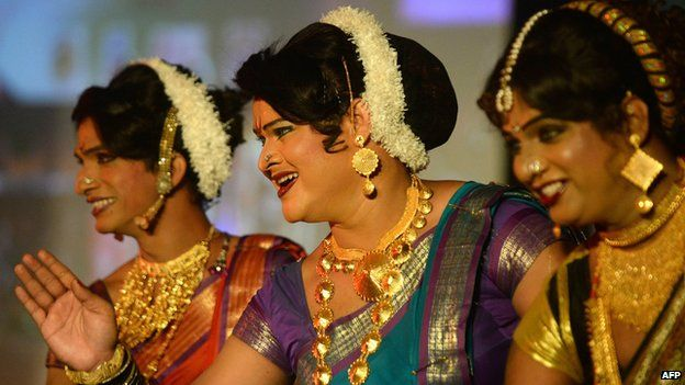 File photo of transgender people in India