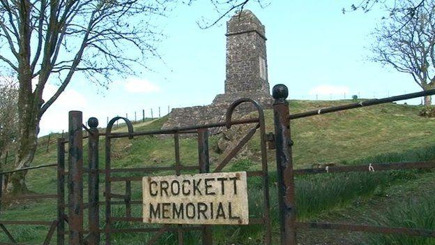 Crockett memorial