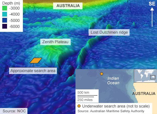 Deep sea challenge for mh370 search bbc news ocean off the coast of australia publicscrutiny Choice Image