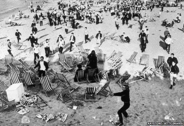 Mods and rockers clash at Margate