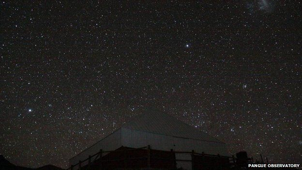 Starry night at the Pangue observatory