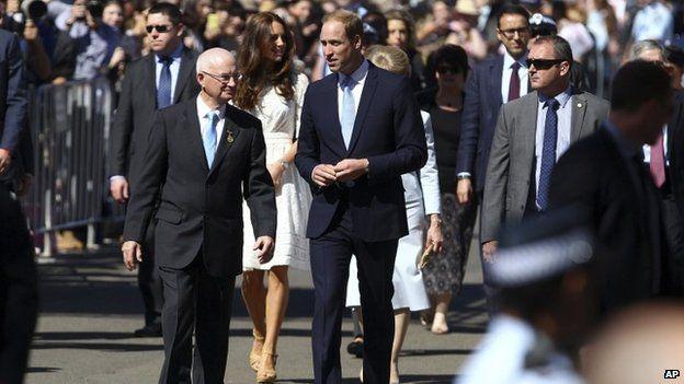 Duke of Cambridge with Glenn Dudley