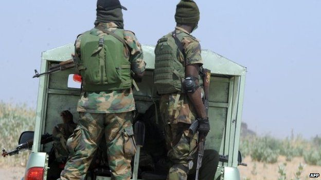 Members of Nigeria's security forces in Borno state - April 2013
