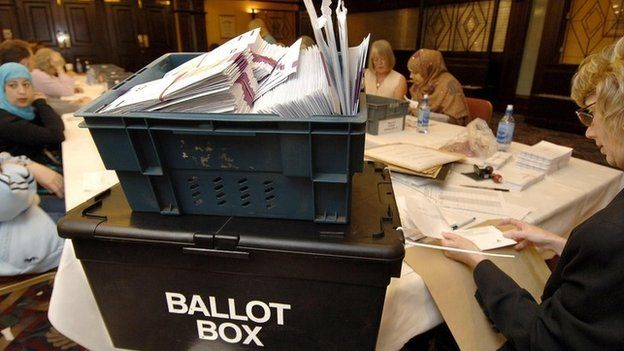 Local election count in Bradford