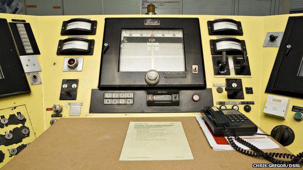 Control panels at DFR control room