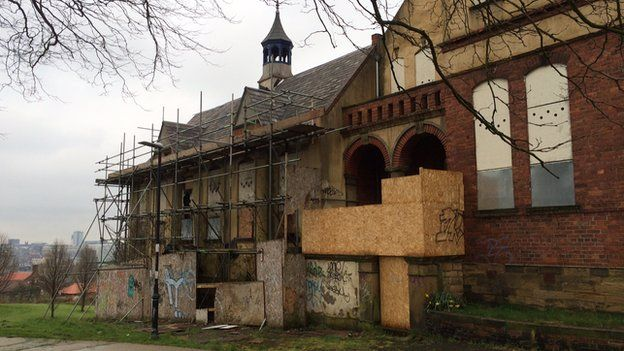 Windmill Hills former school and care home vandalised north wing