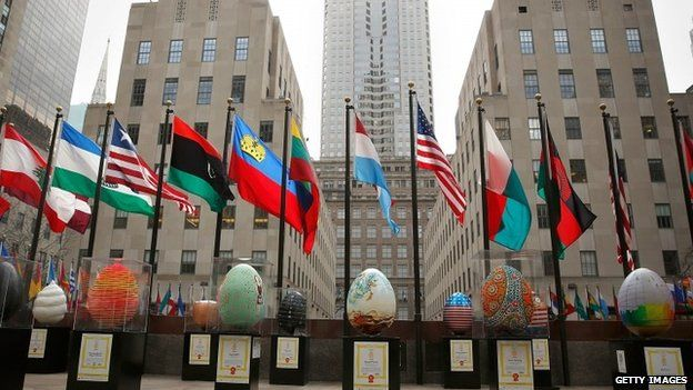 Big Egg Hunt NYC by Faberge finale display