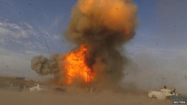 Blasts in Baghdad, 25 April