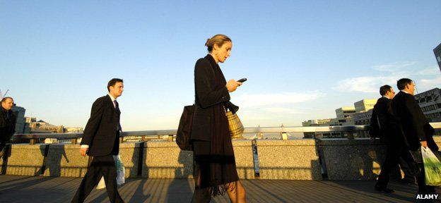 Walking and texting in London
