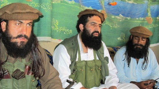 Pakistan Taliban members in Waziristan
