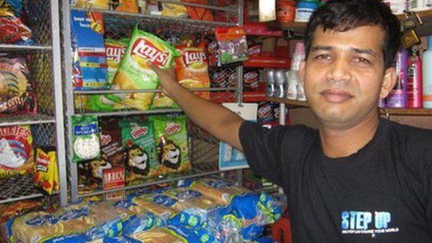 Altaafur Rhaman in his spaza shop