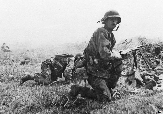 French soldiers during the battle for Dien Bien Phu