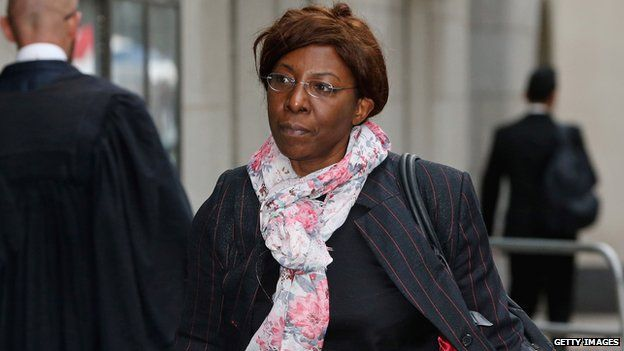 Constance Briscoe arriving at the Old Bailey on May 2