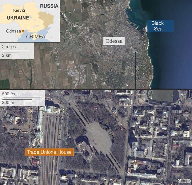 Ukraine crisis Dozens killed in Odessa fire amid clashes  BBC News