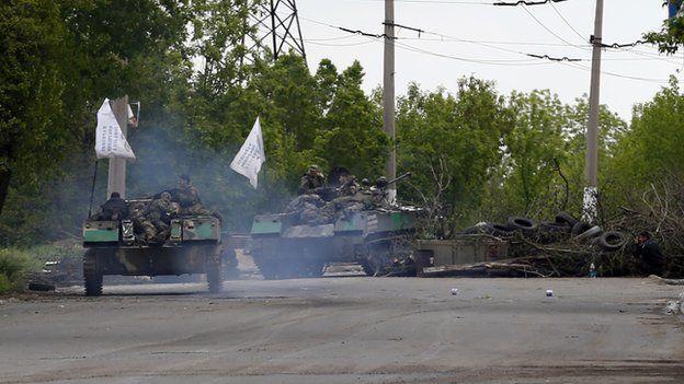 Separatist armoured vehicles