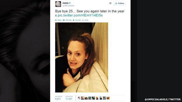 Adele tweet
