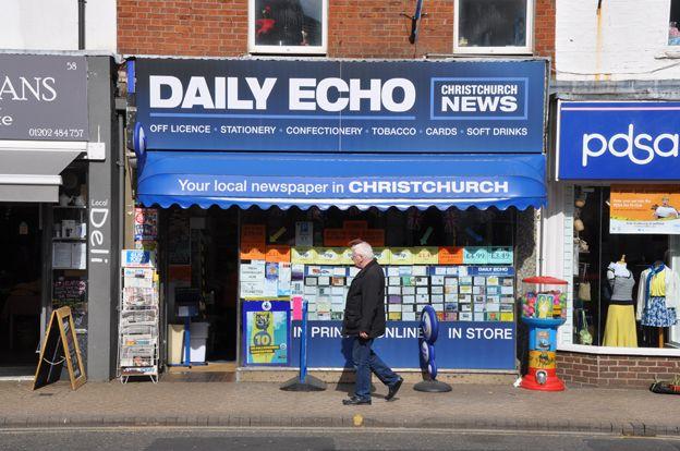 Shop advertising Christchurch News