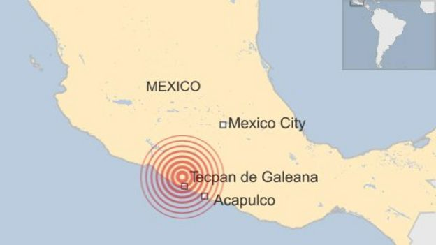 Strong earthquake of 6.4 magnitude hits Mexico - BBC News