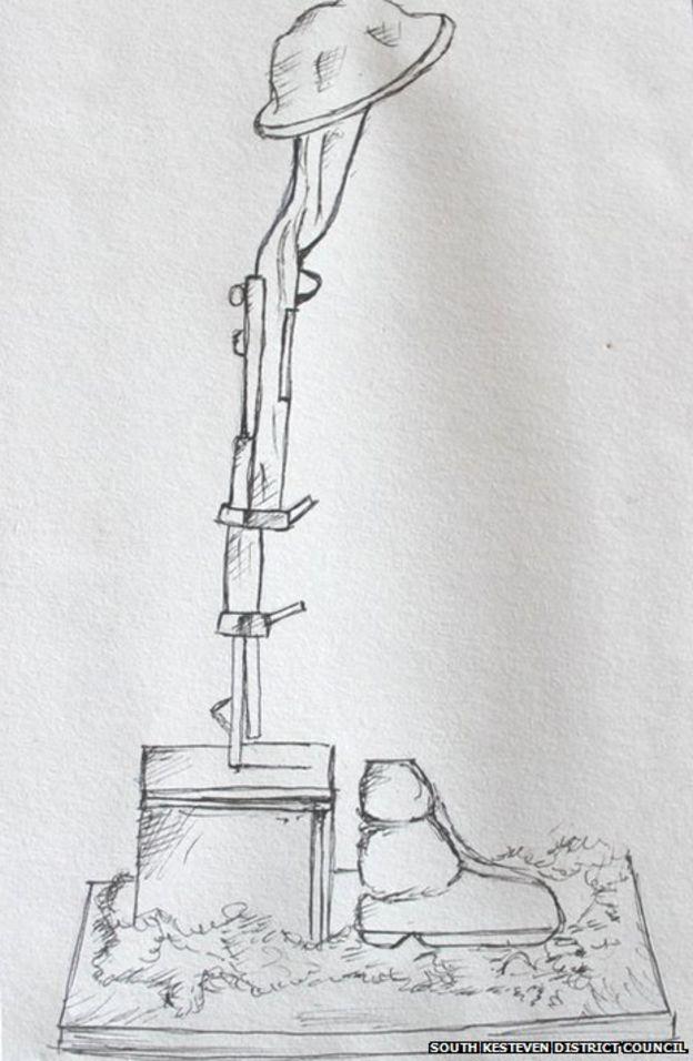 Public vote for Lincolnshire park's WWI sculpture - BBC News