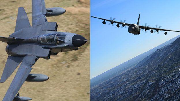 RAF Tornado and USAF Hercules