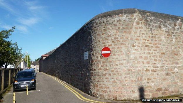 Wall of Inverness Prison