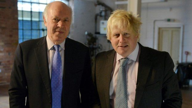 Michael Cockerell and Boris Johnson