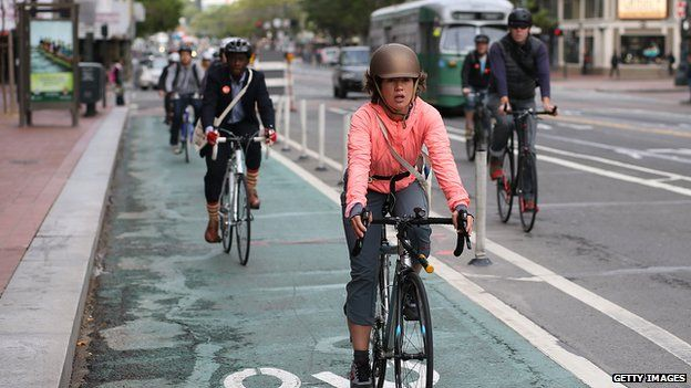 Bicyclists rode in San Francisco, California, on 9 May 2013