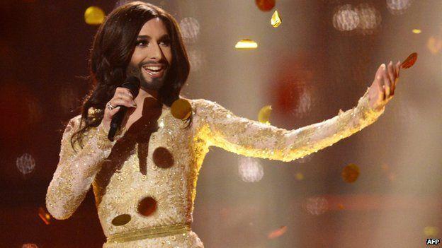 Conchita Wurst at Eurovision on 10 May 2014