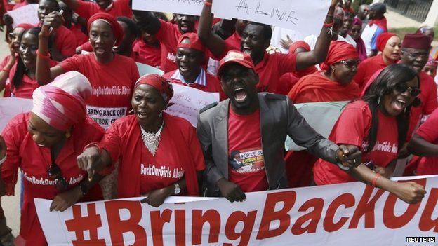 Nigerians protesting