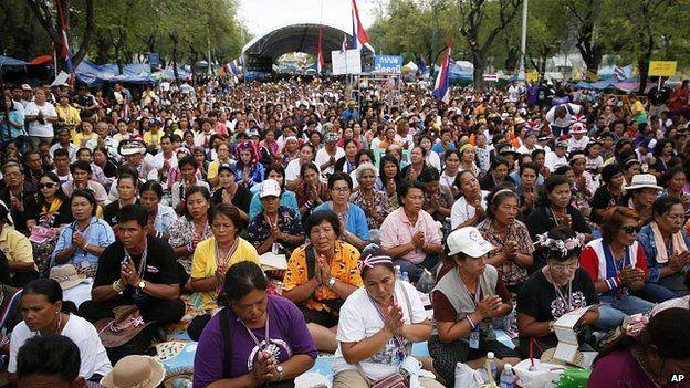 Anti-government protesters in Bangkok. 14 May 2014