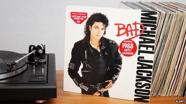 """Cover of Michael Jackson's """"Bad"""" LP"""
