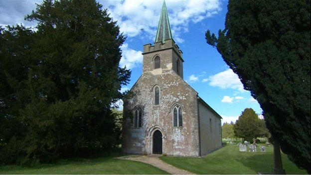 The church of St Nicholas in Steventon, Hampshire, where Jane Austen's father and brother were rectors