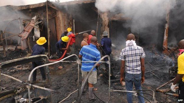 Bomb blast in Jos, Nigeria, 20 May