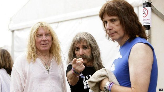 File photo: (Left to right) David St. Hubbins (Michael McKean), Derek Smalls (Harry Shearer) and Nigel Tufnel (Christopher Guest) from Spinal Tap at the 2009 Glastonbury Festival at Worthy Farm in Pilton, Somerset
